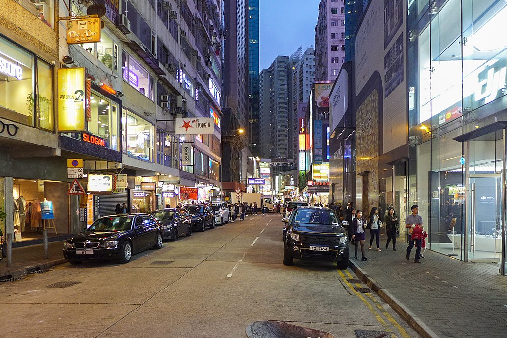 Jaffe Road is a major thoroughfare in Hong Kong's Wan Chai area known for its nightclubs. Photo: Wpcpey/WikiMedia