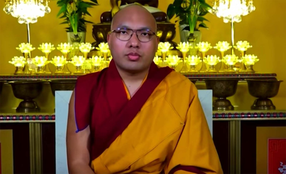 His Holiness the 17th Karmapa has said he hopes to return to India shortly after a nine-month break in the US. Photo: YouTube screen grab