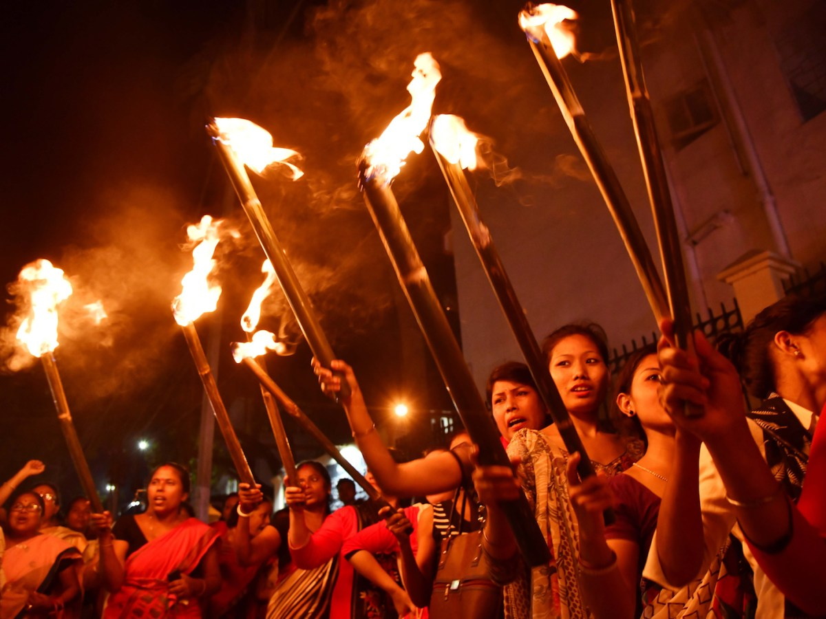 Women take part in a rally in Guwahati in Assam in 2008 against the Citizenship (Amendment) Bill, which would give citizenship or stay rights to minorities in India from Bangladesh, Pakistan and Afghanistan. Photo: AFP/Biju Boro