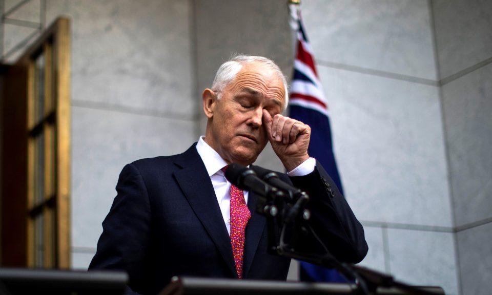 澳洲總理特恩布爾在2018年8月21日出席堪培拉的新聞發布會。相片:AFP / Sean Davey