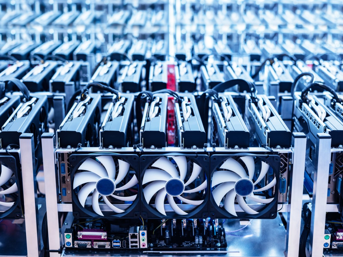 As crypto prices plummeted over the course of 2018 the level of difficulty in minting new digital coins remained high even as profitability dropped. Photo: iStock