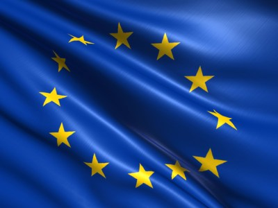 European Union flag with fabric structure. Image: iStock