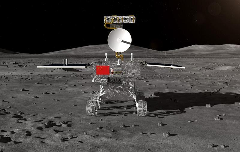 An artist's rendering of the Chang'e-4 probe on the moon's dark side. Photo: Handout