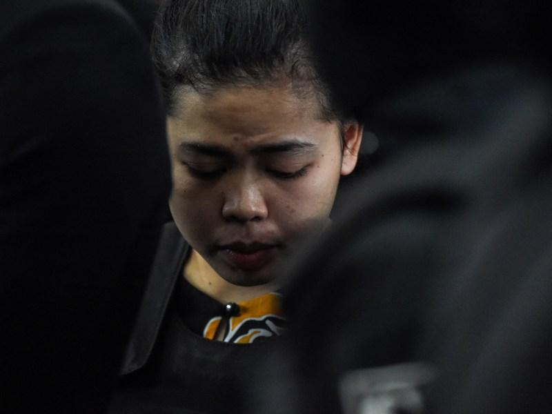 Indonesian defendant Siti Aishah (C) has been charged with the murder of Kim Jong-Nam, the estranged half-brother of North Korean leader Kim Jong-Un, at Kuala Lumpur International Airport 2. Photo: AFP/ Mohd Rasfan
