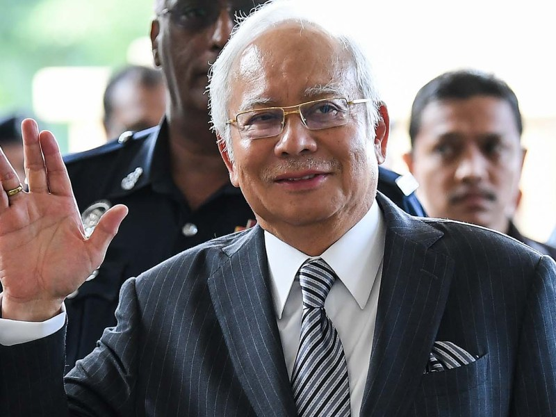 Malaysia's former prime minister Najib Razak arrives for a court appearance in Kuala Lumpur on August 10, 2018. Razak is facing charges linked to the 1MDB scandal that contributed to his election defeat in May. Photo: AFP/Mohd Rasfan