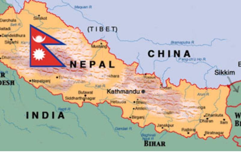 Nepal-India-China-Map