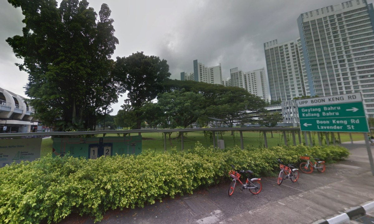The lawn near Kallang MRT station, Singapore. Photo: Google Maps