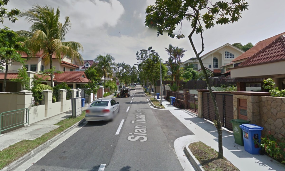 Sian Tian Avenue in Bukit Timah, Singapore. Photo: Google Maps