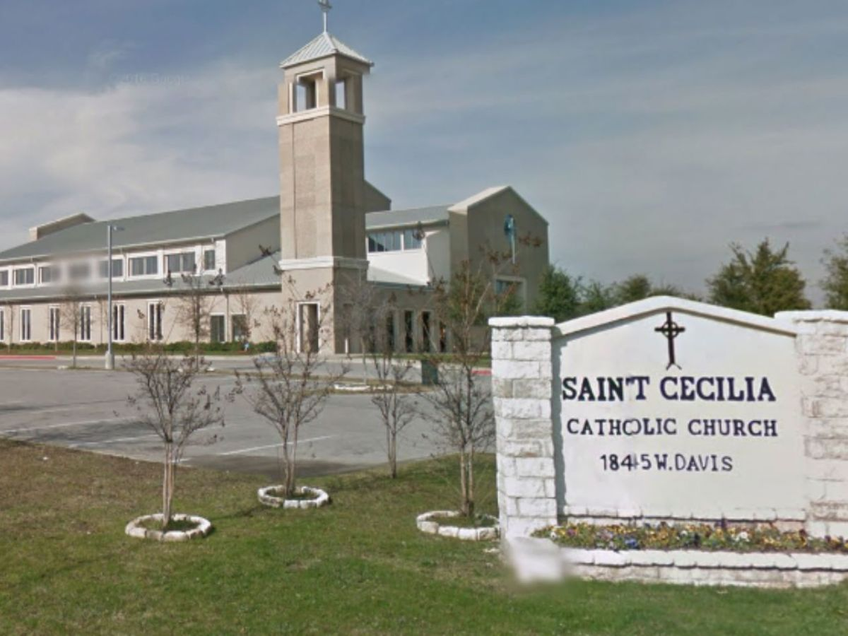 St. Cecilia Catholic Church in Dallas, Texas in the Untied States. Photo: Google Maps