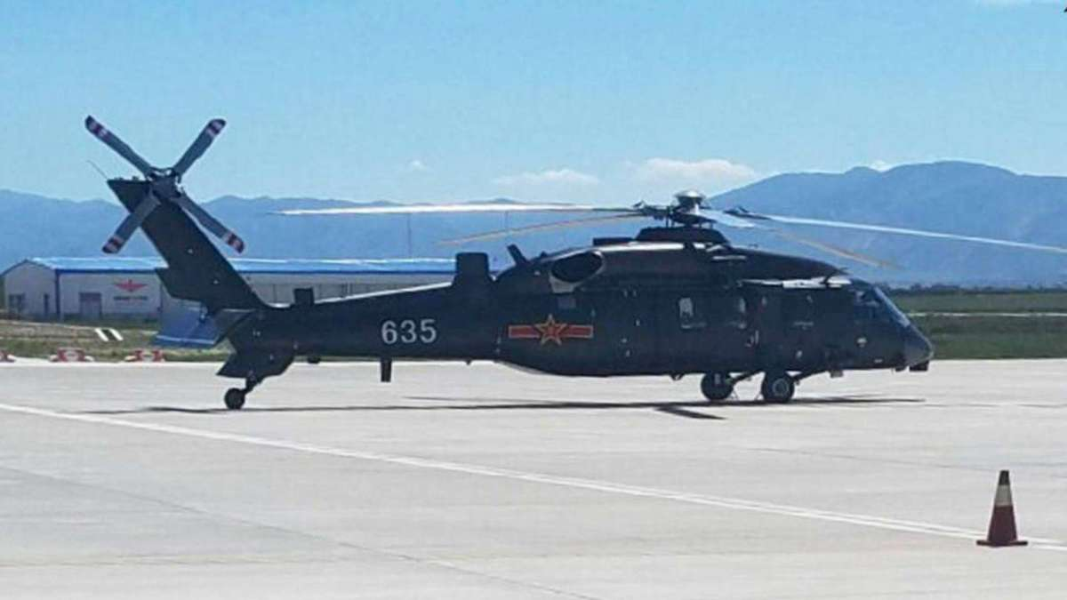 An undated image of what is believed to be a prototype of the Z-20 high-altitude utility helicopter. Photo: Weibo