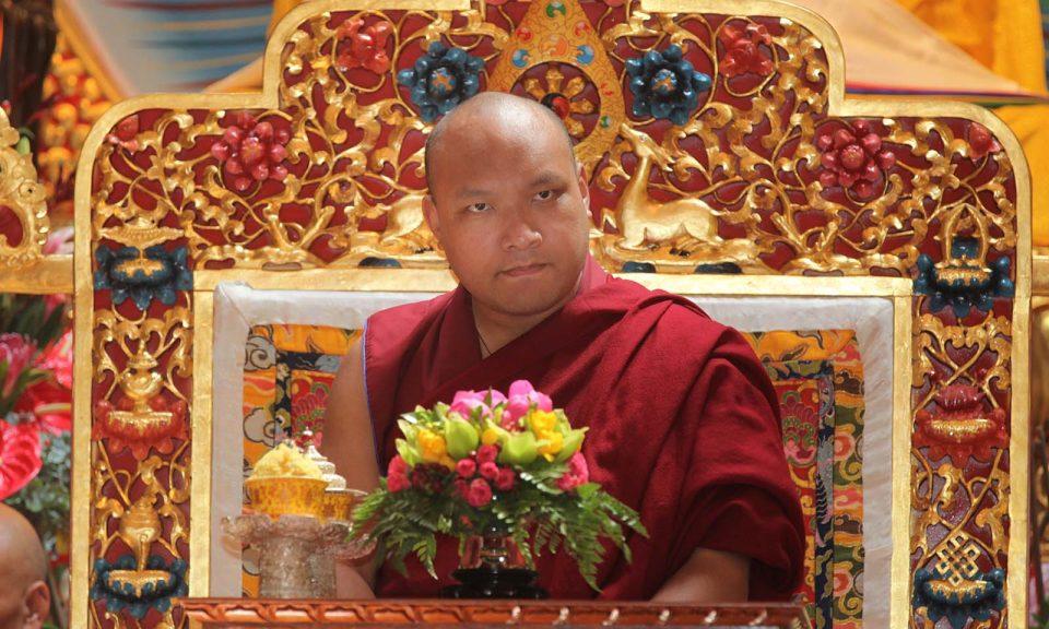 2017年6月8日,尊敬的第17屆噶瑪巴在多倫多參觀大乘深明苑(Tekchen Zabsal Ling)負責剪彩,並在主祈禱大廳祈福。相片:Creative Touch Imaging Ltd / NurPhoto