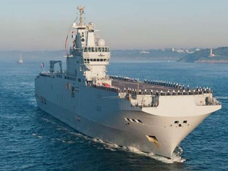 France's Landing Helicopter Deck (LHD) Mistral participated in the 2017 Jeanne d'Arc naval task group that sailed through the disputed Spratly Islands in the South China Sea. Photo: Courtesy  Embassy of France, Australia