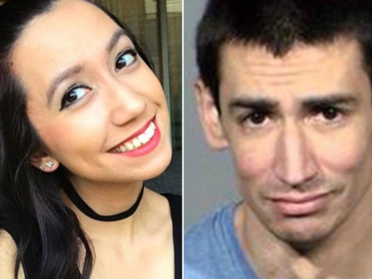 Left: Makayla Rhiner. Right: Brandon Hanson. Photo courtesy of Twitter and Las Vegas Metropolitan Police Department.