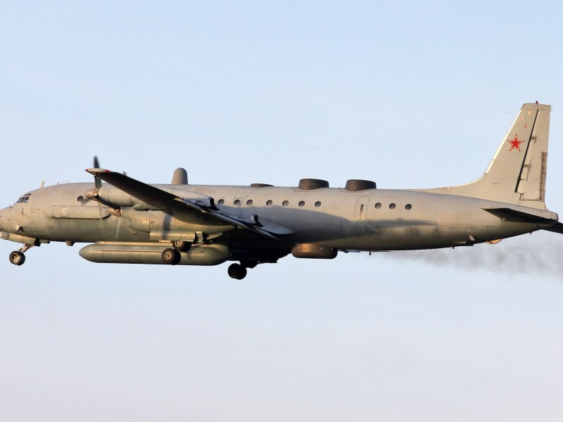 A Russian Il-20 military plane crashed off the coast of Syria Monday, killing 15 servicemen. It was shot down in error by Syrian air defense systems responding to an incursion by Israeli warplanes.  Photo: Aleksandr Tarasenkov / Russian Defence Ministry