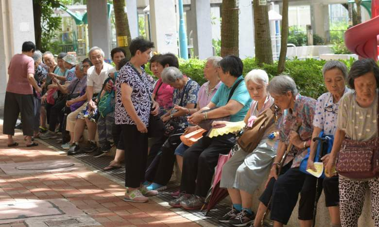 Elderly people in Hong Kong. Photo: HK Government