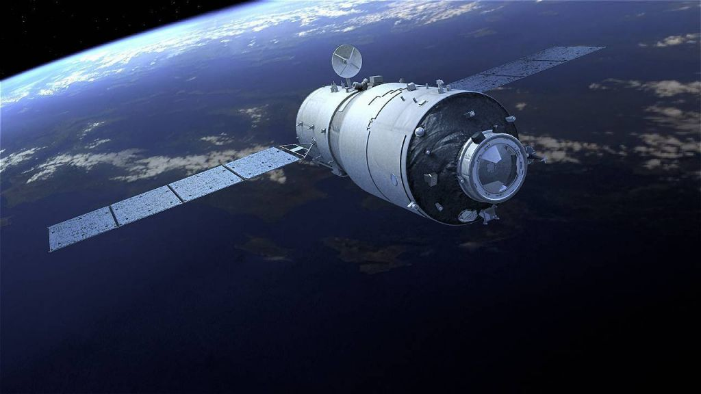 A computer-generated picture of the Chinese space lab Tiangong-2 in orbit. Photo: Xinhua