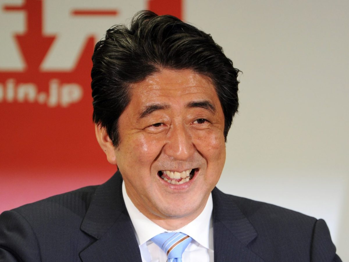 Japanese Prime Minister and ruling Liberal Democratic Party leader Shinzo Abe has some outspoken and controversial supporters. Photo: AFP/Yoshikazu Tsuno