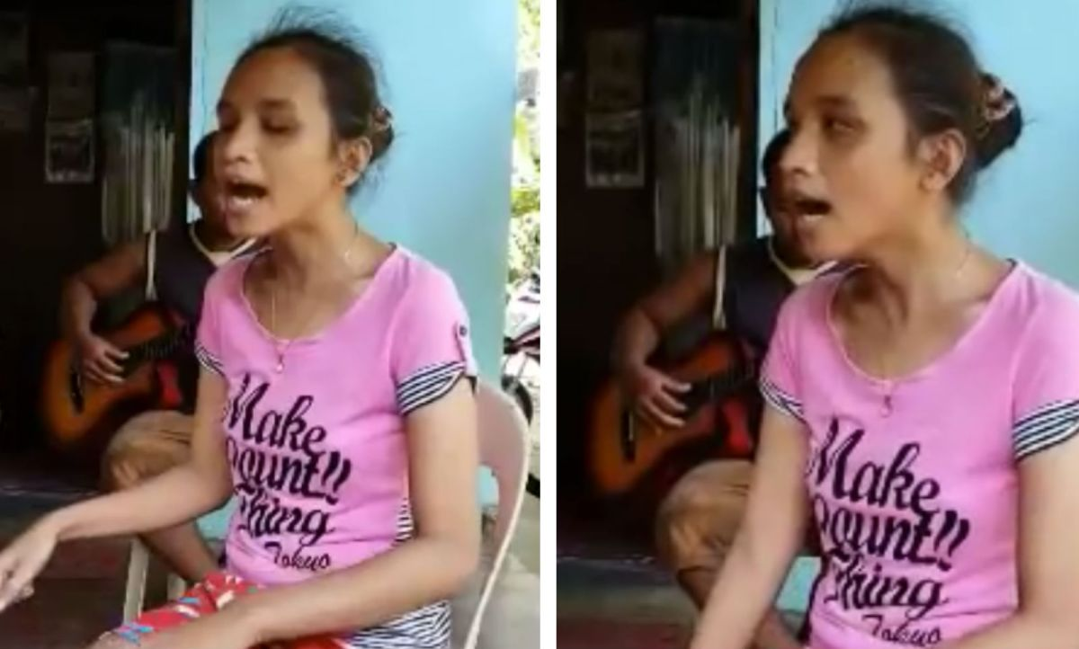 "A blind Filipino woman named Elsie Balawing has become a viral singing sensation after a video of her singing Whitney Houston's ""I Will Always Love You"" gained over 20 million views in three weeks. Photo: YouTube"