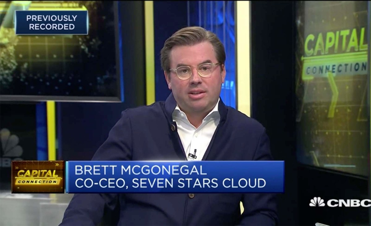 Brett McGonegal, co-CEO of Seven Stars Cloud Group. Photo: CNBC screen grab