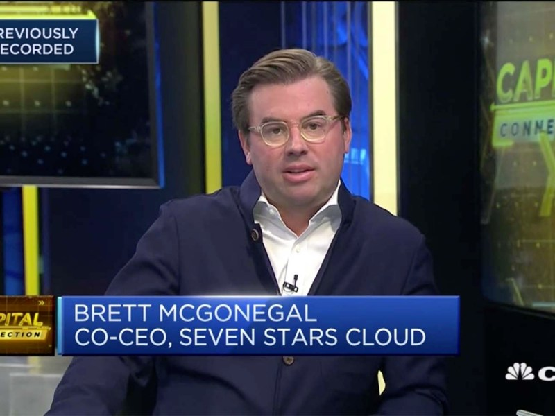Brett McGonegal, co-CEO of Seven Stars Cloud Group. Photo: CNBC screen grab