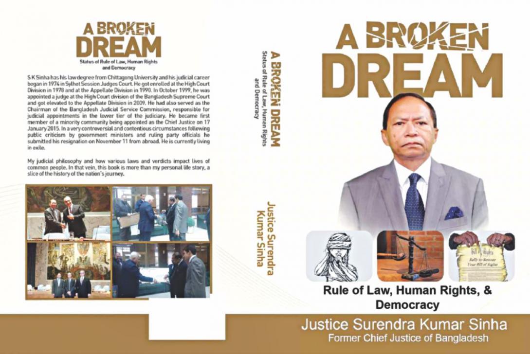 The autobiography written by former Bangladesh Chief Justice Surendra Kumar Sinha. Photo: Twitter/@MohedulIslamDa1