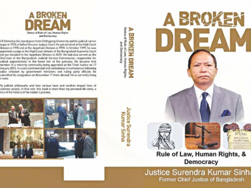 The autobiography written by former Bangladesh Chief Justice Surendra Kumar Sinha. Photo: Twitter/@MohedulIslamDa1