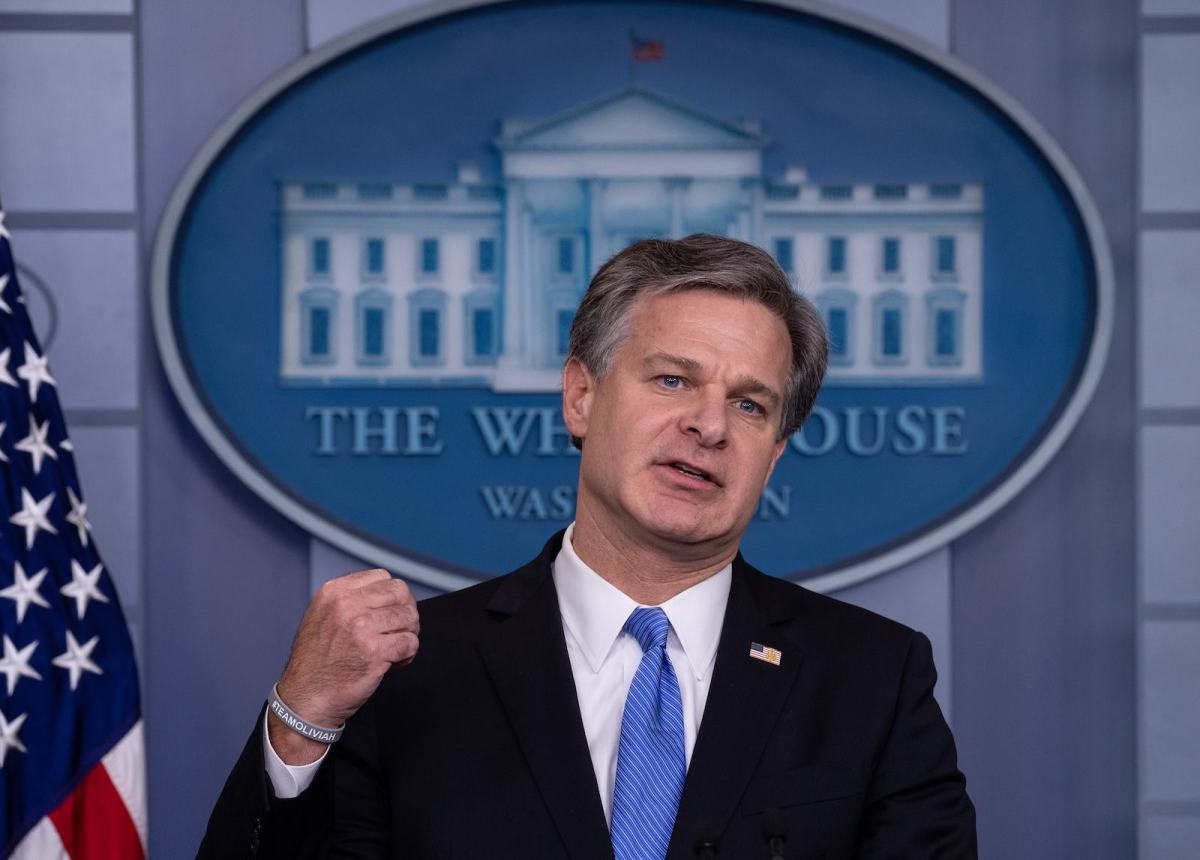 FBI director Christopher Wray says Pyongyang is a force behind a destructive global cyber campaign. Photo: AFP / Nicholas Kamm