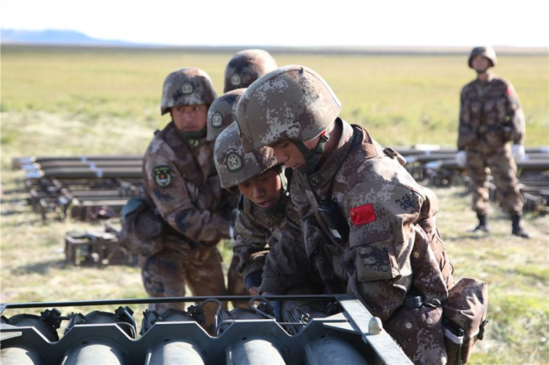 PLA troops are seen in Russia's Tsugol Training Range prior to the start of the Vostok 2018 drill. Photo: CCTV