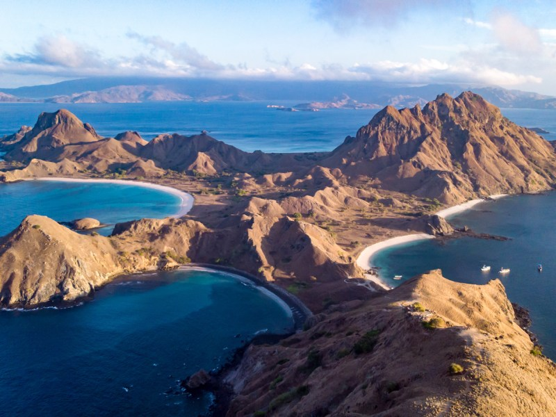 An aerial view of Komodo National Park on eastern Indonesia's Padar Island. Photo: iStock/Getty Images