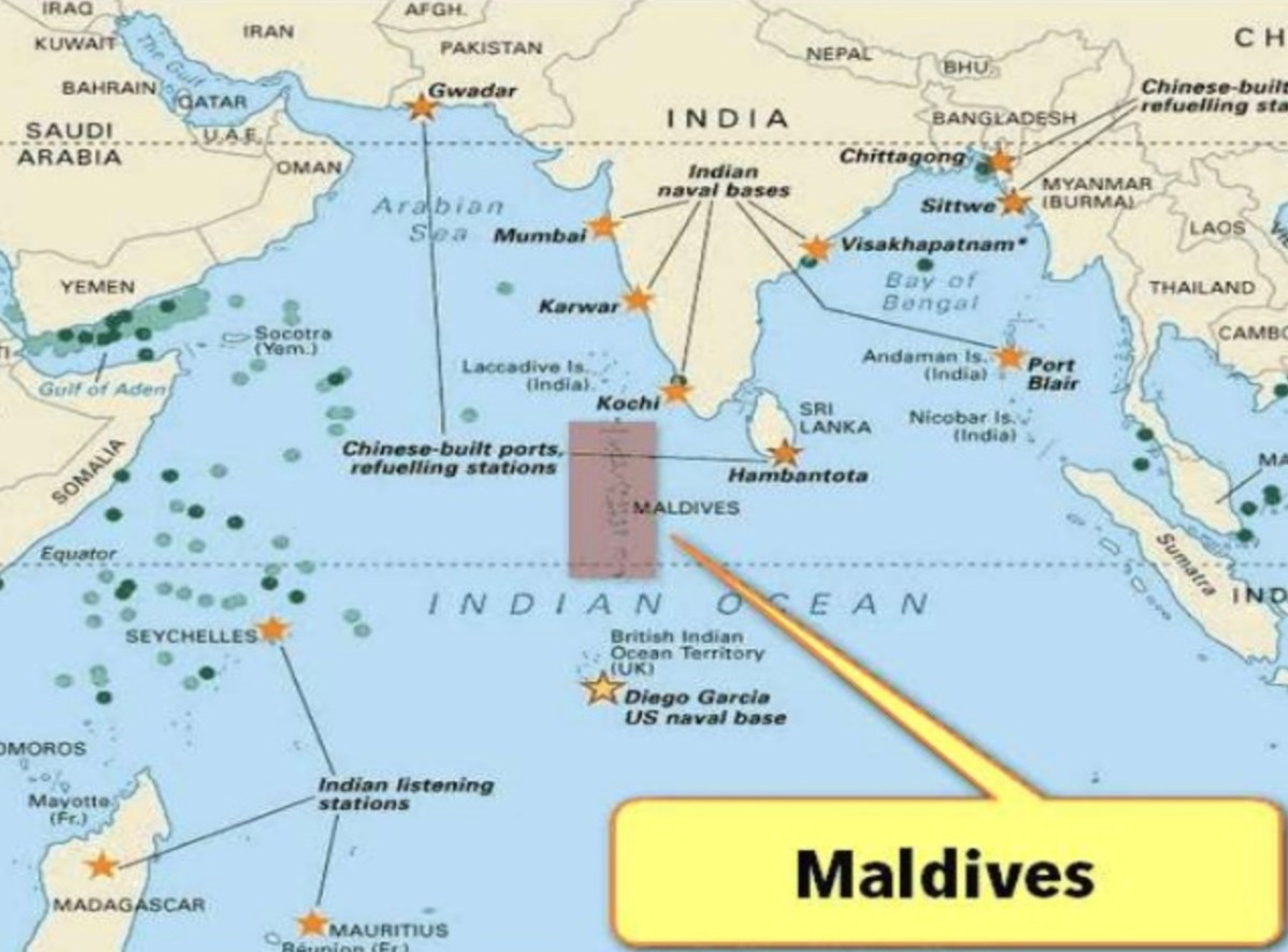 Map of Maldives: iStock