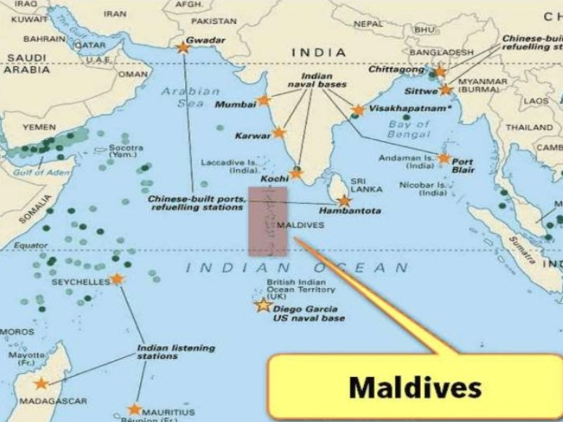 Map of Maldives: iStock