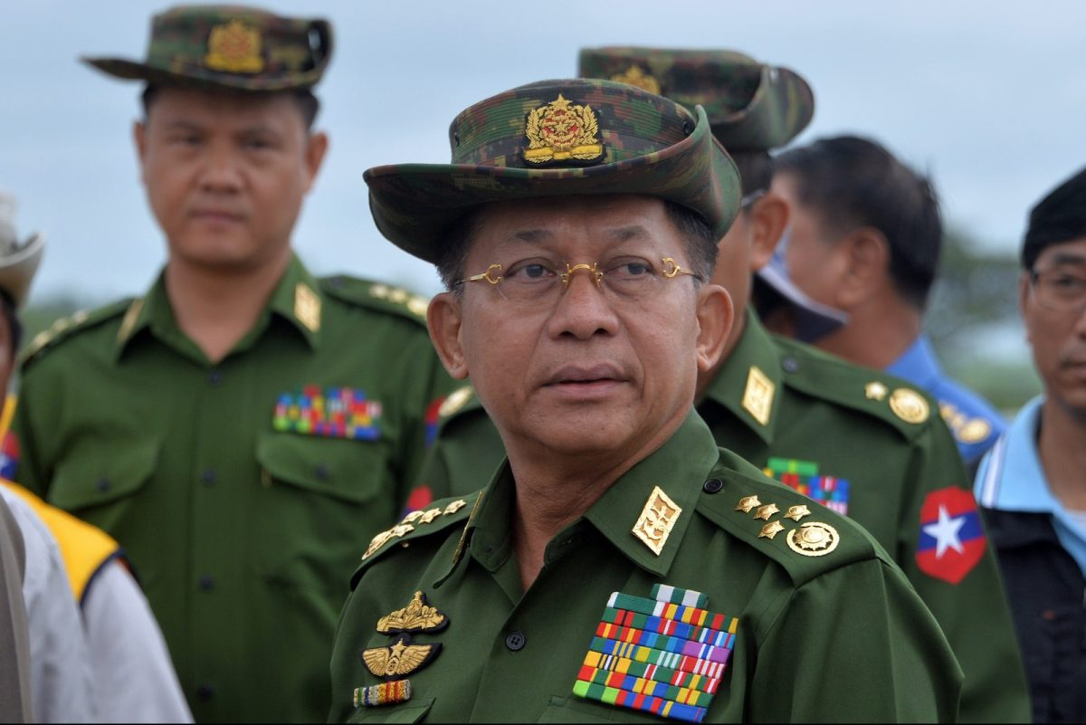 Army chief Snr General Min Aung Hlaing has told media groups they could face legal action over unverified reports about the military. Photo: AFP / Thet Aung