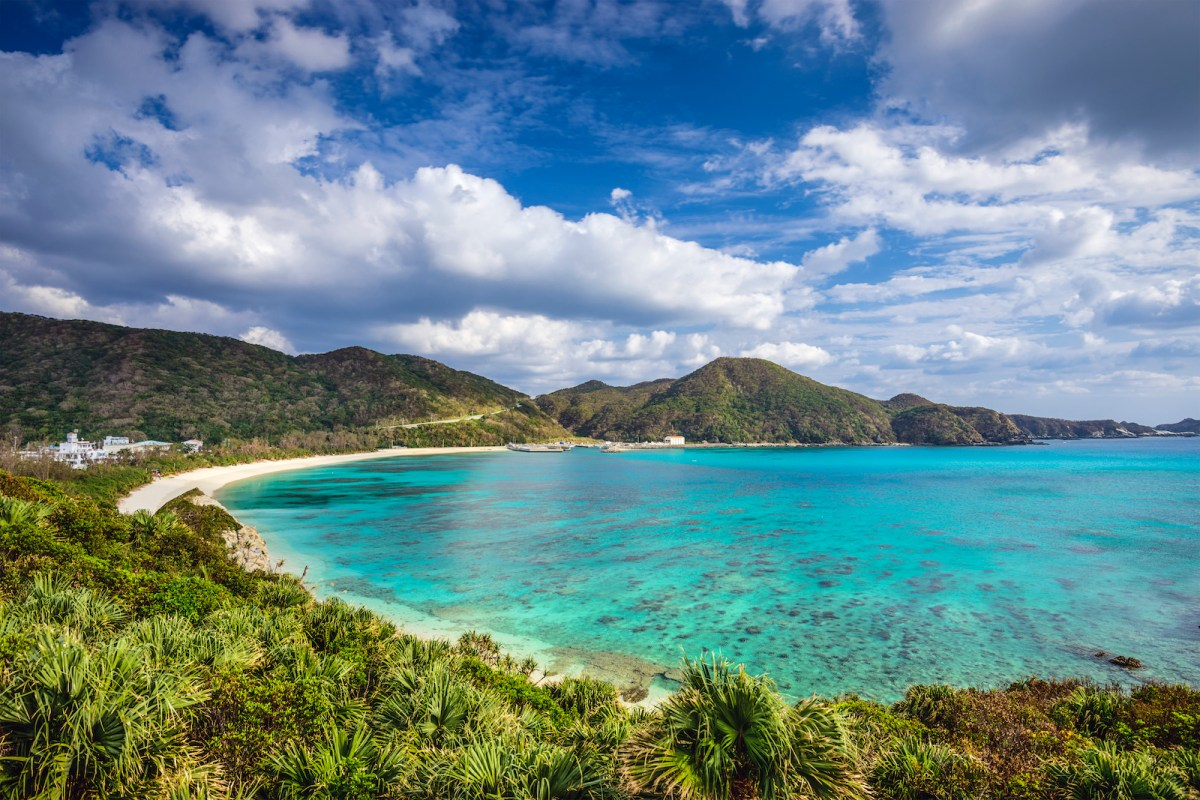 The stunning beauty of Aharen beach on Tokashiki Island in Okinawa, Japan. Photo: iStock