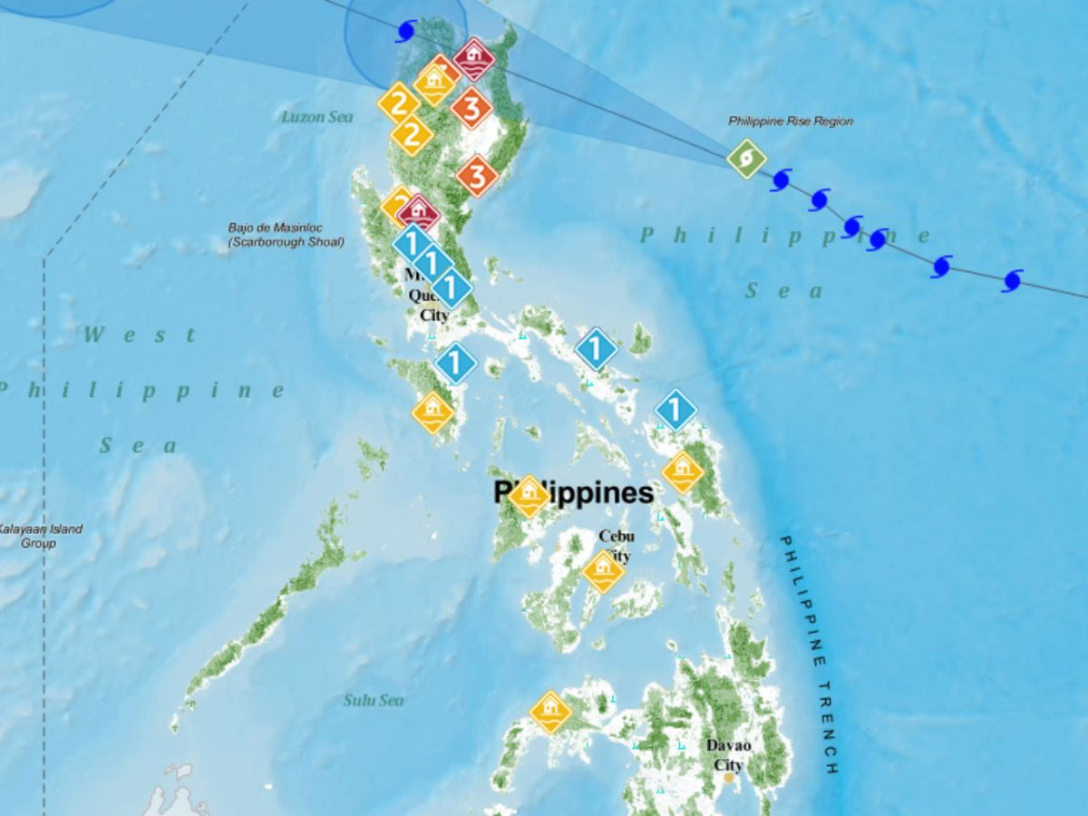 Philippine weather officials have issued warnings for people living in most parts of Luzon as Typhoon Mangkhut moves closer to the country. Photo: PAGASA