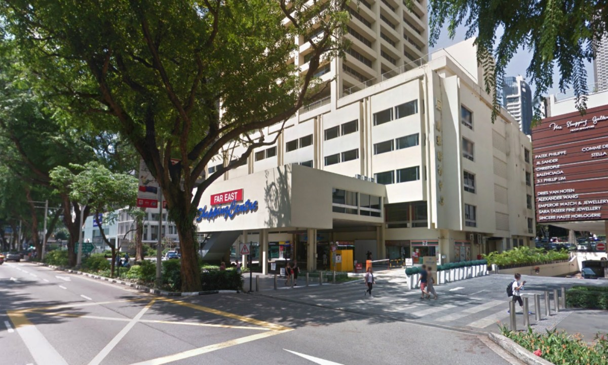 Far East Shopping Centre, Orchard Road, Singapore. Photo: Google Maps