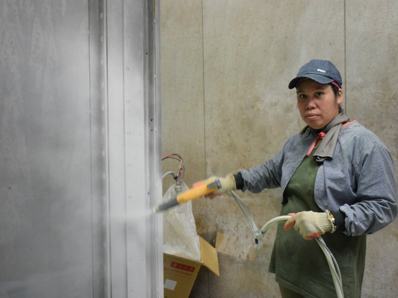 Lan Dong-Hua is still the only female worker at the San Jin factory. Photo: Workforce Development Agency, Taiwan