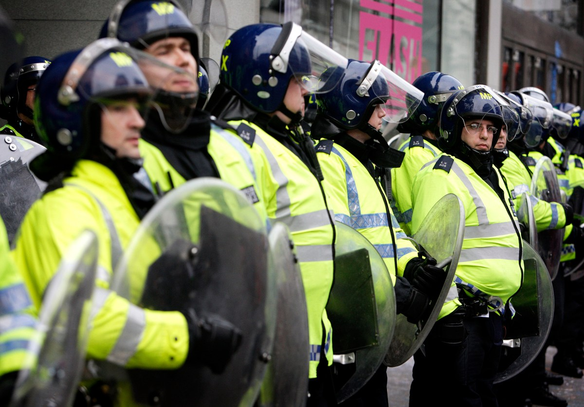 The UK's riot police could be busy if a no-deal Brexit triggers civil unrest, says a leaked report. Photo: iStock
