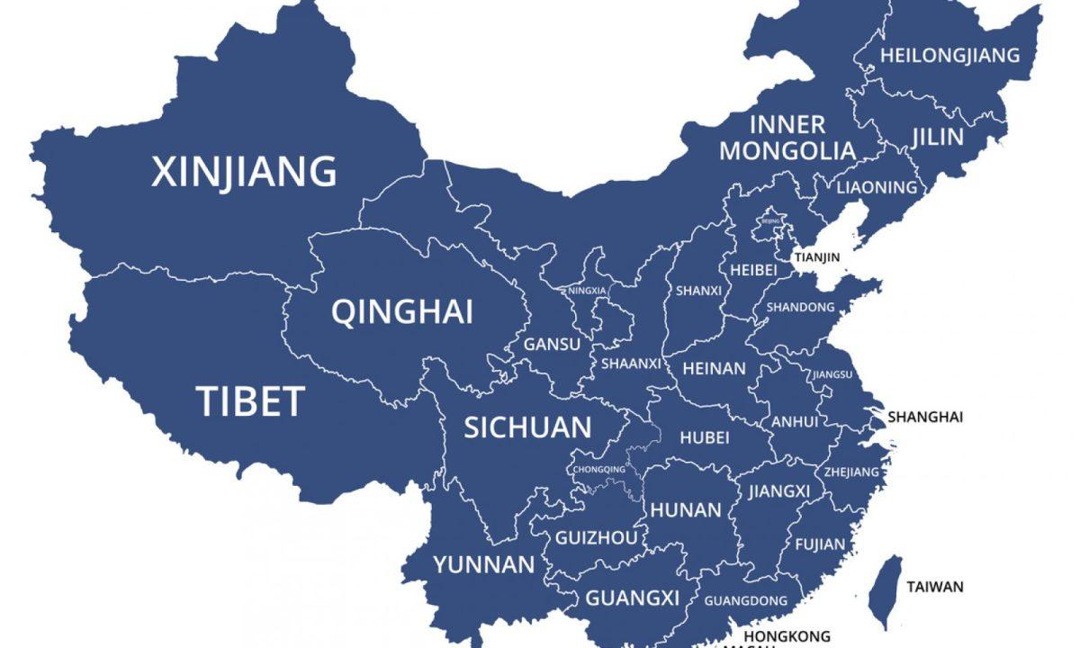 中國地圖。相片:iStock