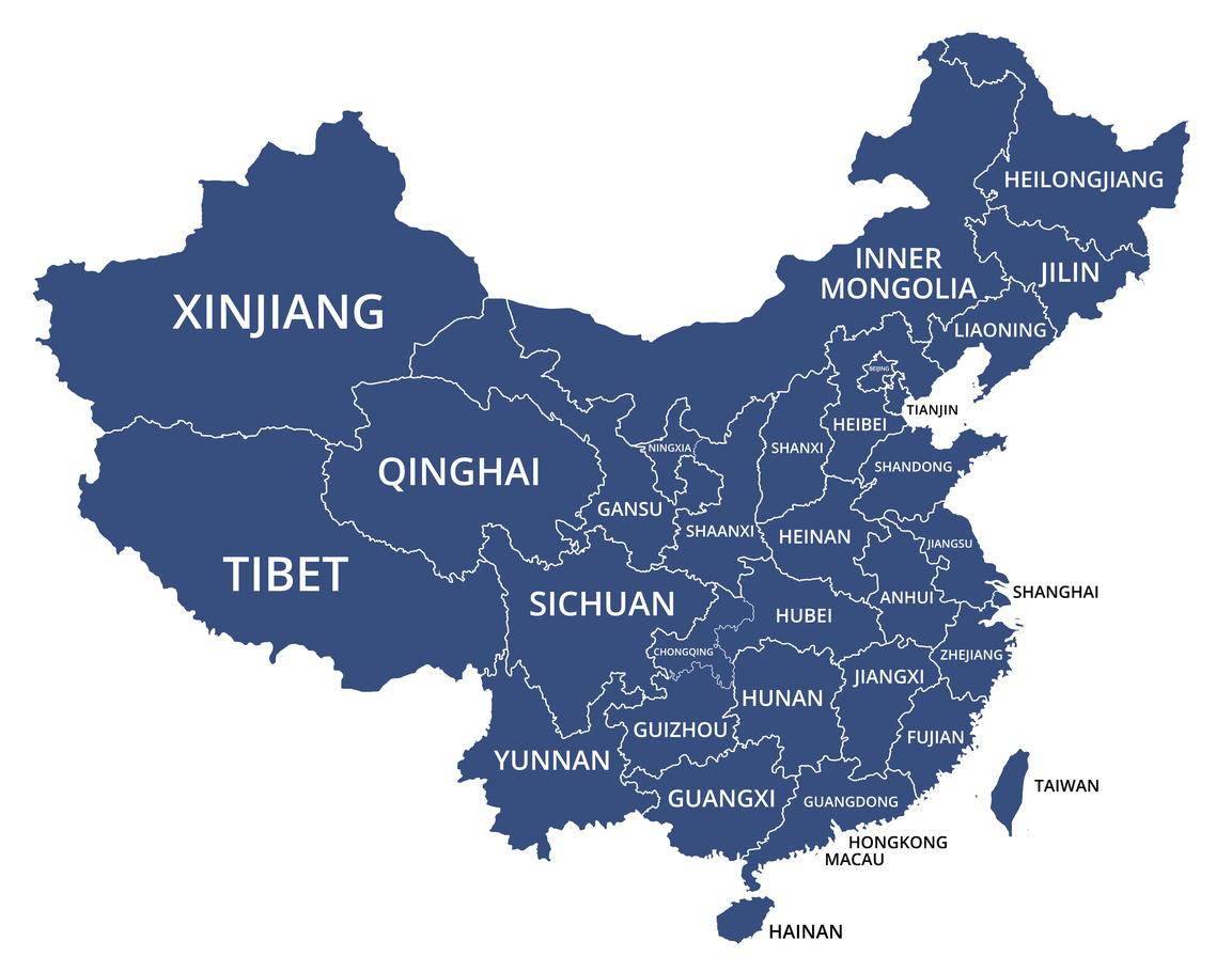 Map of China: iStock