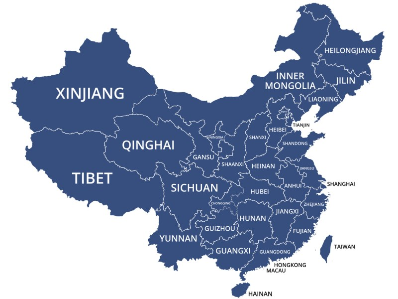 Map of China: iStock