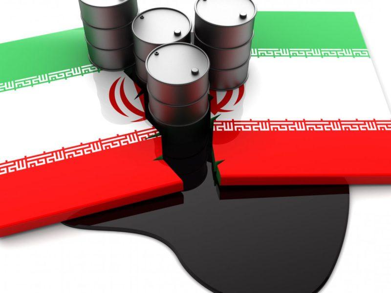 一張印有破裂的伊朗國旗和油桶的3D抽象圖。相片:iStock