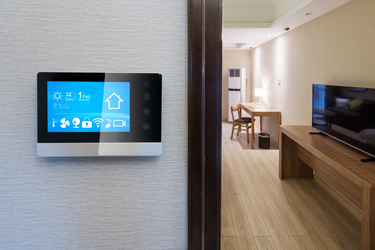 Intelligent touch screen with smart home app. Photo: iStock