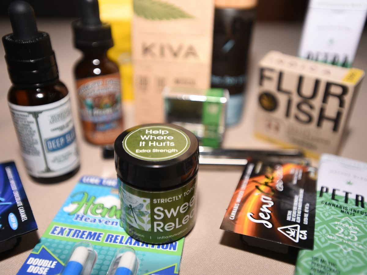 Medical marijuana products in the United States. Thailand hopes to produce similar products soon. Photo: AFP/Josh Edelson