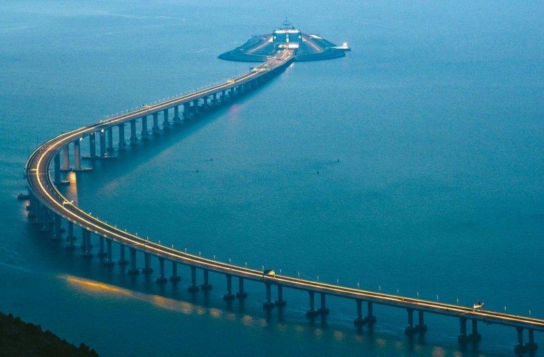 Hong Kong-Zhuhai-Macau Bridge Photo: Xinhua