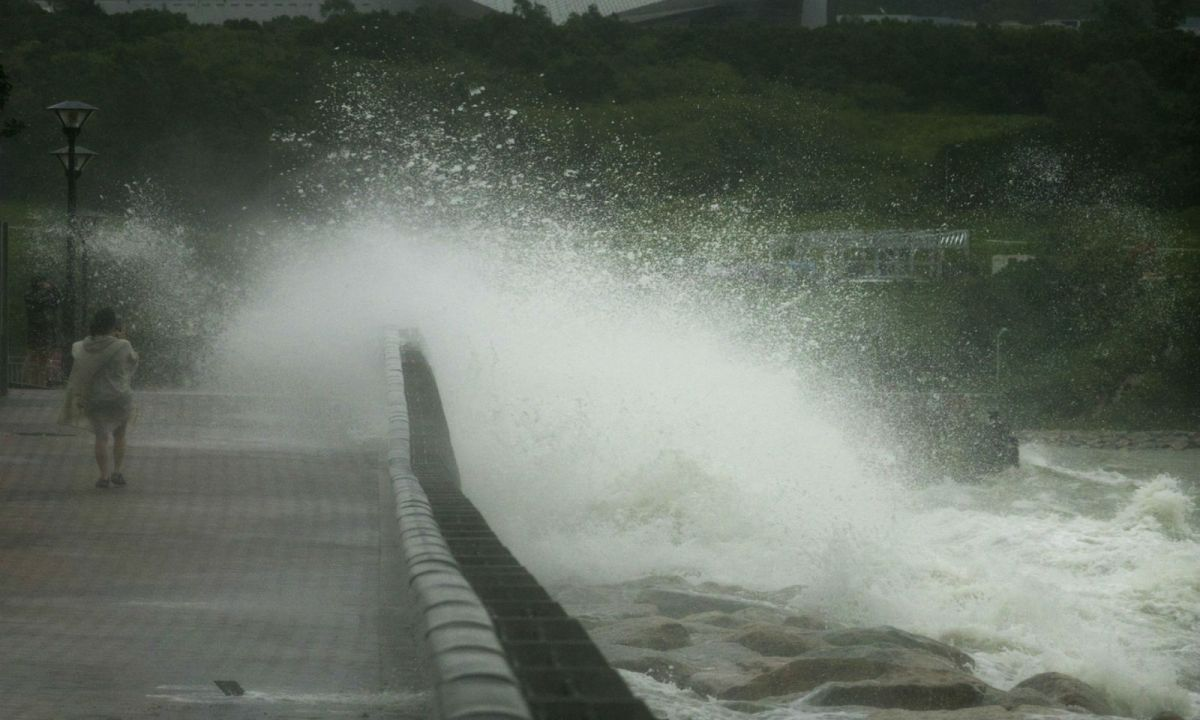Tseung Kwan O in the New Territories where residents are braced for bad weather. Photo: Istock