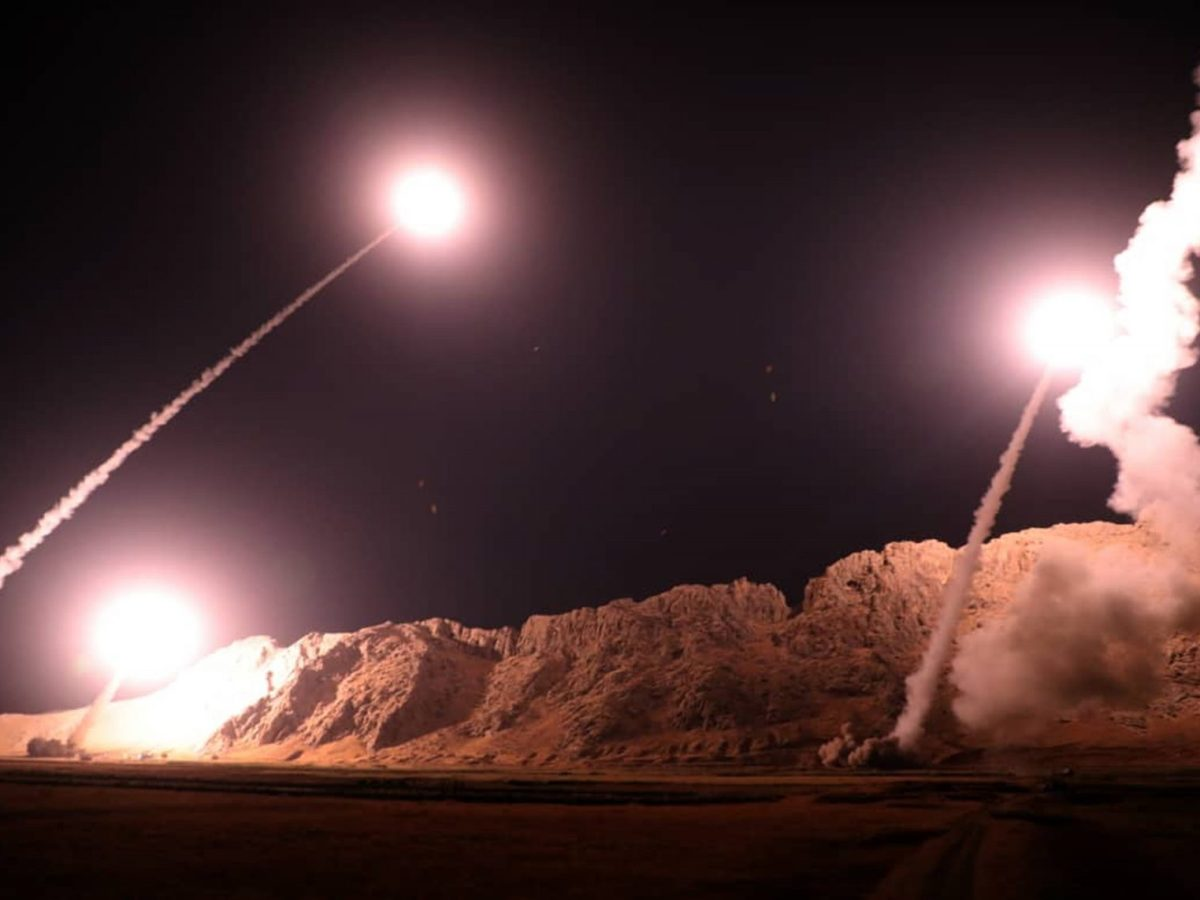 This handout photo provided by the official website of Iran's Revolutionary Guards via SEPAH News shows missiles being launched from an undisclosed location to target militants in eastern Syria early on October 1, 2018.Photo: AFP / Sepah News