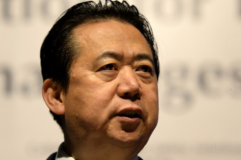 Meng Hongwei, Interpol's missing president. Photo: AFP