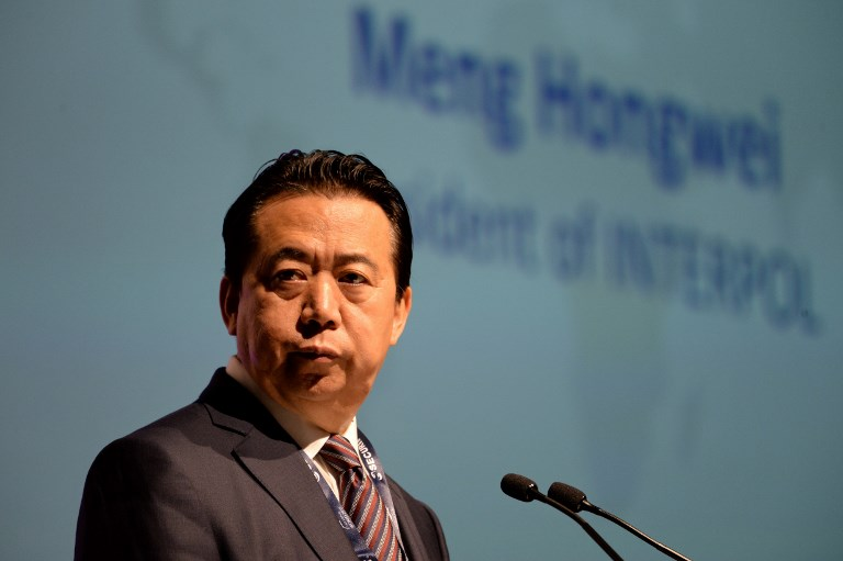 President of Interpol, Meng Hongwei. Photo: AFP/Roslan Rahman