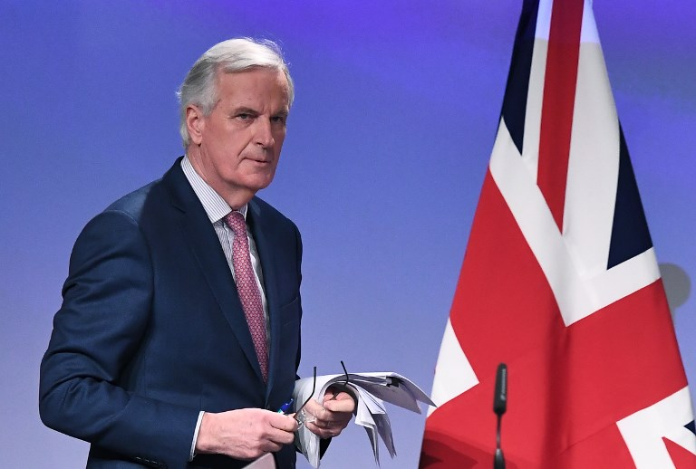 European Union chief Brexit negotiator Michel Barnier. Photo: AFP
