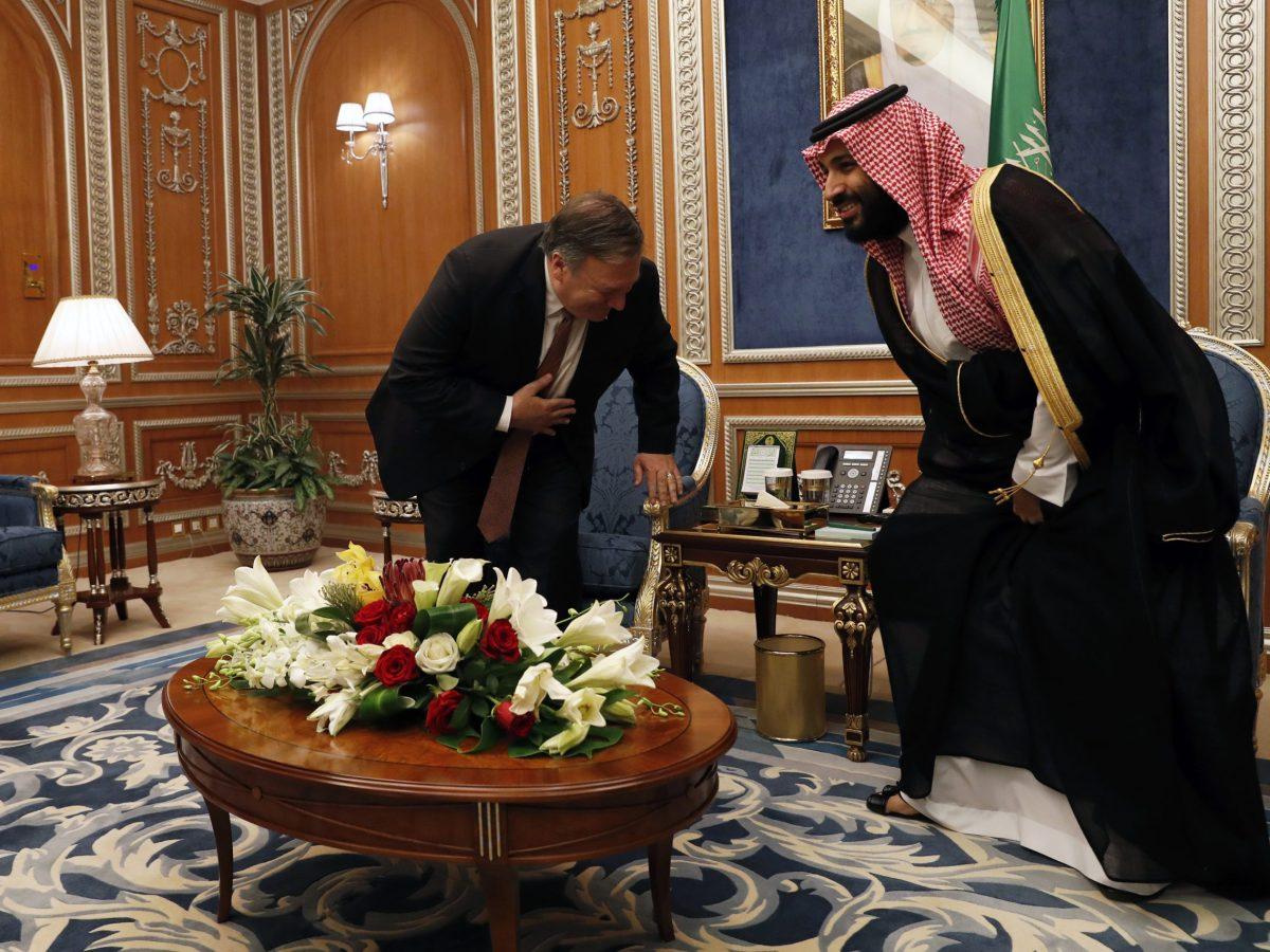 لقاء ولي العهد السعودي محمد بن سلمان مع  وزير الخارجية الأمريكي مايك بومبيو في الرياض  (LEAH MILLIS / POOL / AFP الصورة)